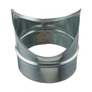 Врезка для круглых воздуховодов d160х160 мм оцинкованная