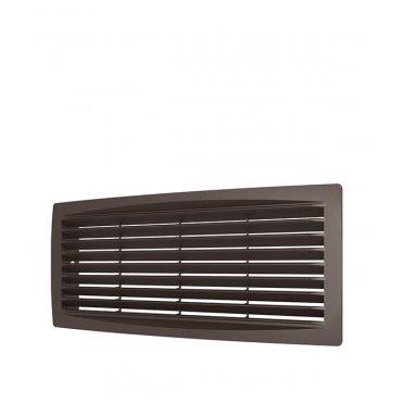 Решетка вентиляционная пластиковая переточная ERA 300х135 мм коричневая