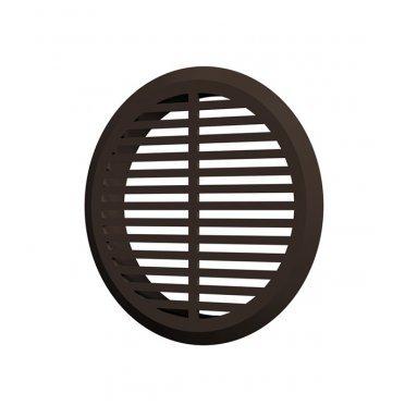 Решетка вентиляционная пластиковая переточная ERA круглая d50 мм с фланцем d45 мм коричневая (4 шт.)