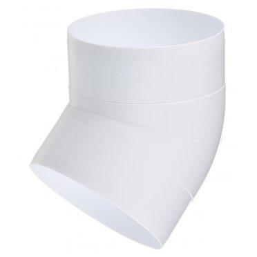 Колено для круглых воздуховодов ERA пластиковое d100 мм 45°