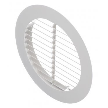 Решетка вентиляционная наружная ERA с фланцем d150 мм круглая пластиковая d200 мм