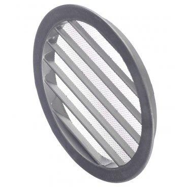 Решетка вентиляционная наружная ERA с фланцем d160 мм круглая алюминиевая d185 мм