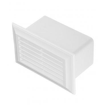 Решетка вентиляционная накладная пластиковая для плоских воздуховодов 55х110 мм