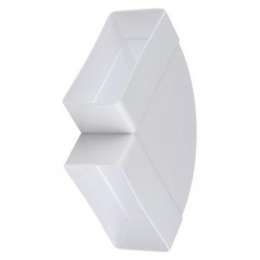 Колено горизонтальное пластиковое для плоских воздуховодов 60х120 мм 90°