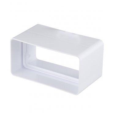 Соединитель пластиковый для плоских воздуховодов 60х120 мм