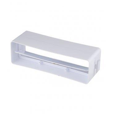Соединитель прямой пластиковый для плоских воздуховодов 60х204 мм с обратным клапаном
