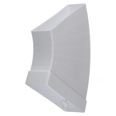 Колено горизонтальное разноугловое пластиковое для плоских воздуховодов 60х204 мм разноугловое