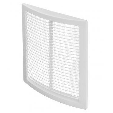 Решетка вентиляционная пластиковая приточно-вытяжная ERA 180х250 мм с сеткой белая
