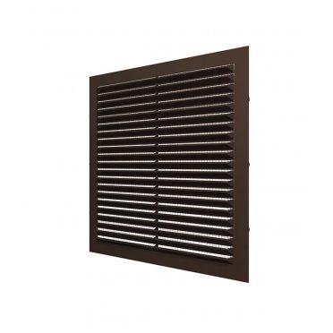 Решетка вентиляционная пластиковая приточно-вытяжная ERA 170х240 мм с сеткой коричневая