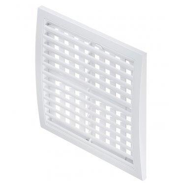 Решетка вентиляционная пластиковая приточно-вытяжная ERA 250х250 мм регулируемая белая