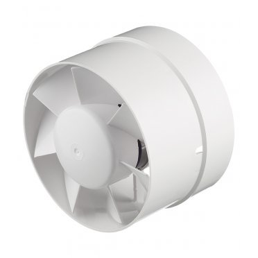 Вентилятор канальный осевой Вентс ВКО d125 мм белый