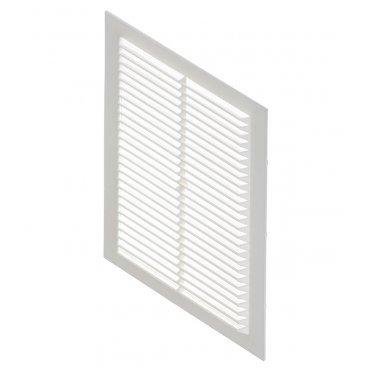 Решетка вентиляционная пластиковая приточно-вытяжная Вентс 170х238х8 мм с сеткой белая
