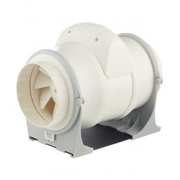 Вентилятор канальный осевой Cata Duct In Line d125 мм слоновая кость