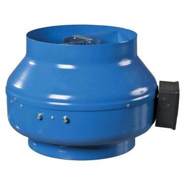 Вентилятор канальный центробежный стальной Вентс ВКМ d100 мм синий