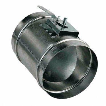 Дроссель-клапан для круглых воздуховодов d250 мм оцинкованный