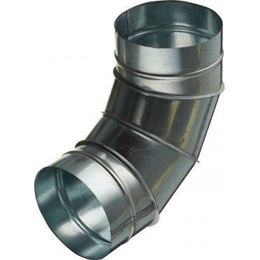 Отвод для круглых воздуховодов d160 мм 90° оцинкованный