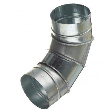Отвод для круглых воздуховодов d125 мм 90° оцинкованный