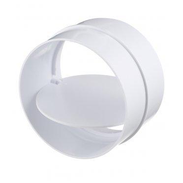 Соединитель для круглых воздуховодов ERA с обратным клапаном пластиковый d100 мм