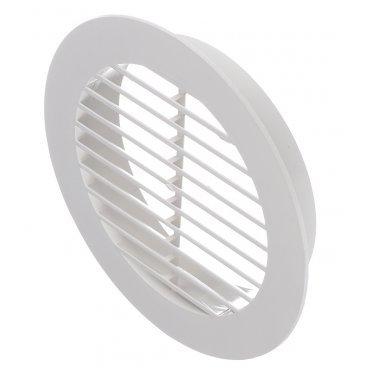 Решетка вентиляционная наружная ERA с фланцем d100 мм круглая пластиковая d130 мм