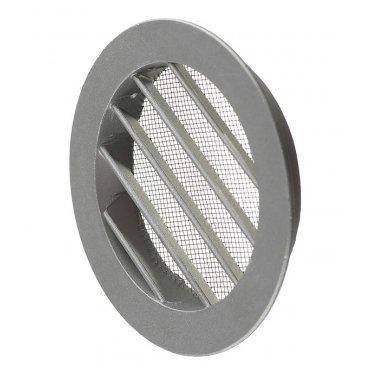 Решетка вентиляционная наружная ERA с фланцем d100 мм круглая алюминиевая d125 мм