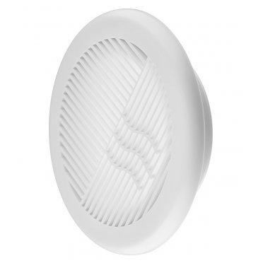 Решетка вентиляции ERA с фланцем d110 мм круглая пластиковая d143 мм