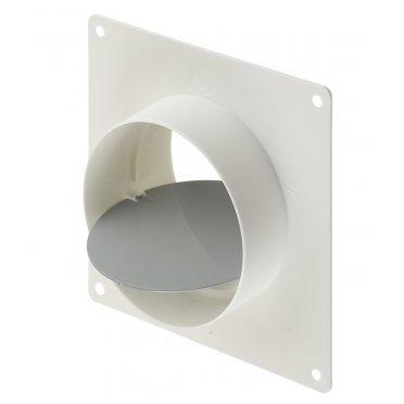 Соединитель для круглых воздуховодов Вентс с накладной пластиной с обратным клапаном пластиковый d100 мм