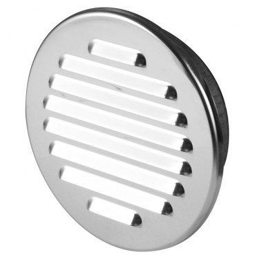 Решетка вентиляционная M9N с фланцем d100 мм круглая нержавеющая сталь d130 мм