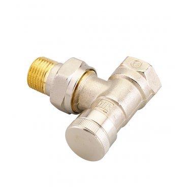 Клапан запорный угловой Danfoss RLV-15 (003L0143) 1/2 НР(ш) х 1/2 ВР(г) для радиатора никелированный