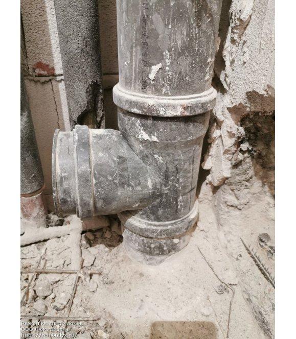 Замена труб канализации до