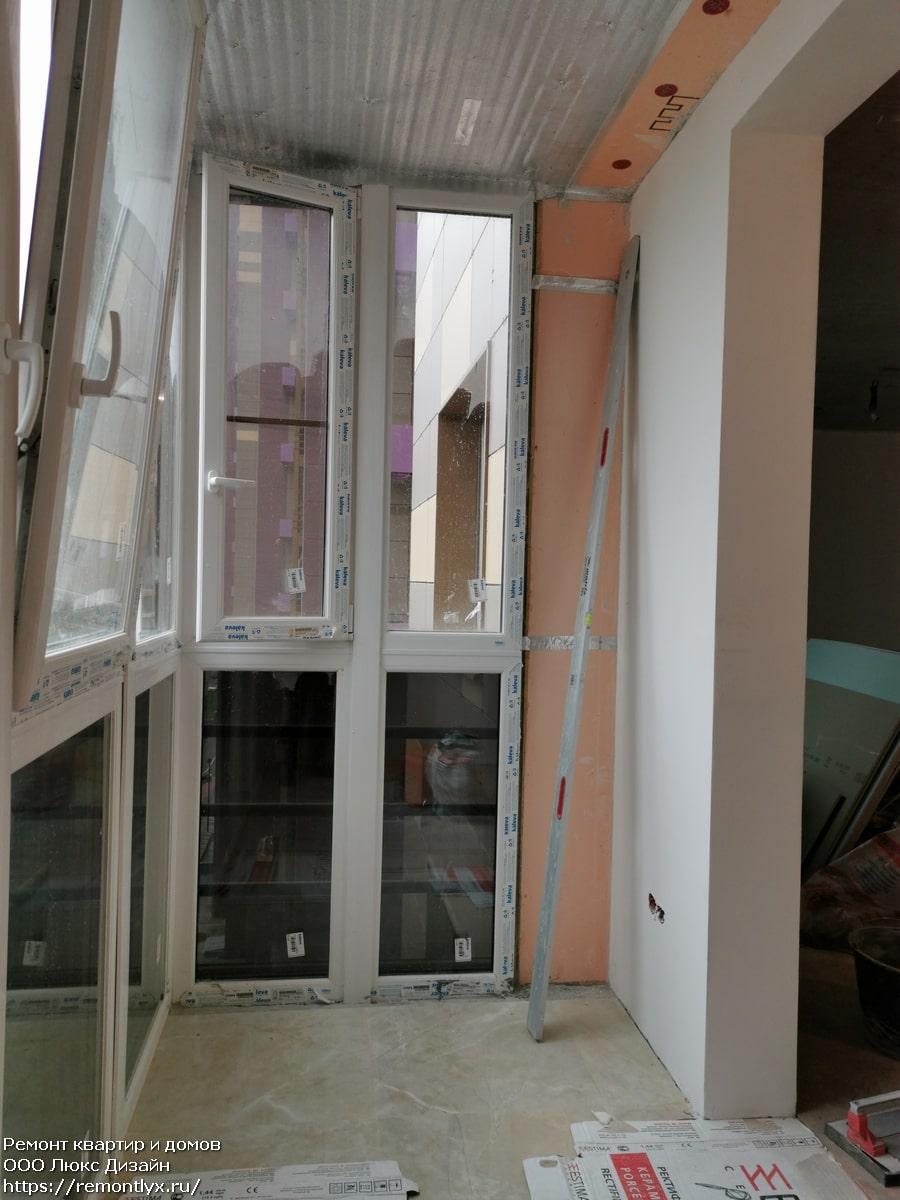 Отделка балконов до