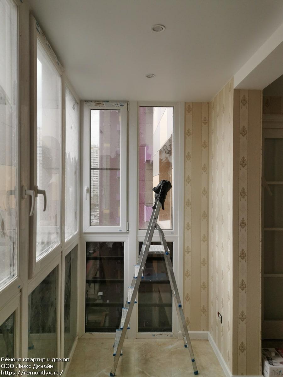 Отделка балконов после
