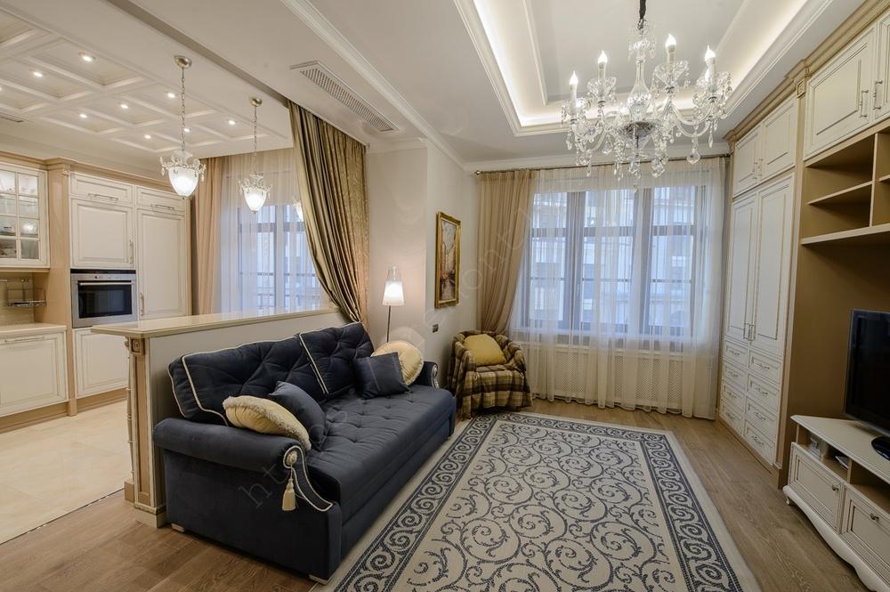 Дизайн проект однокомнатной квартиры 50.5 м2